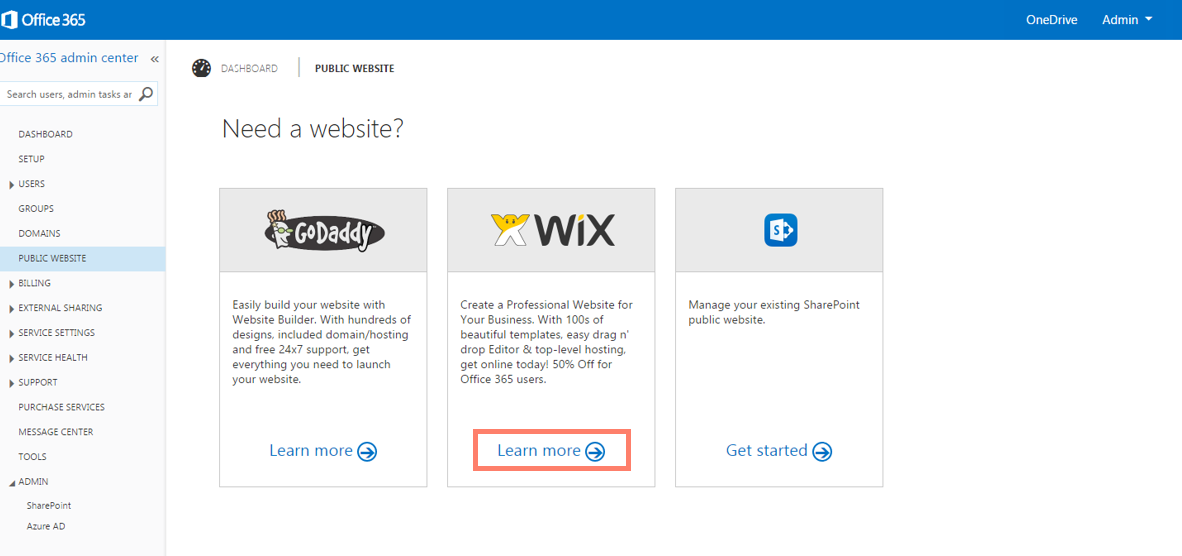 How Can I Create A Wix Site Using My Microsoft Office 365