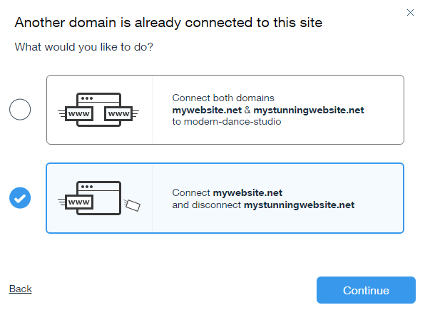wow how to change connected domain