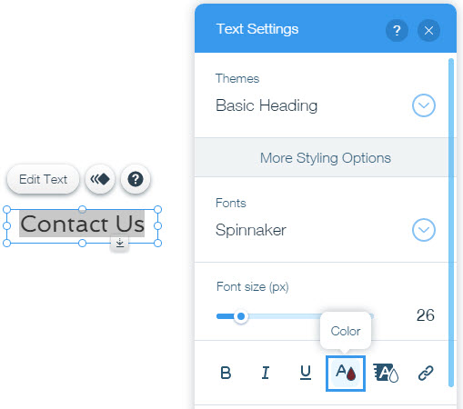 Changing the Text Color | Help Center | Wix com